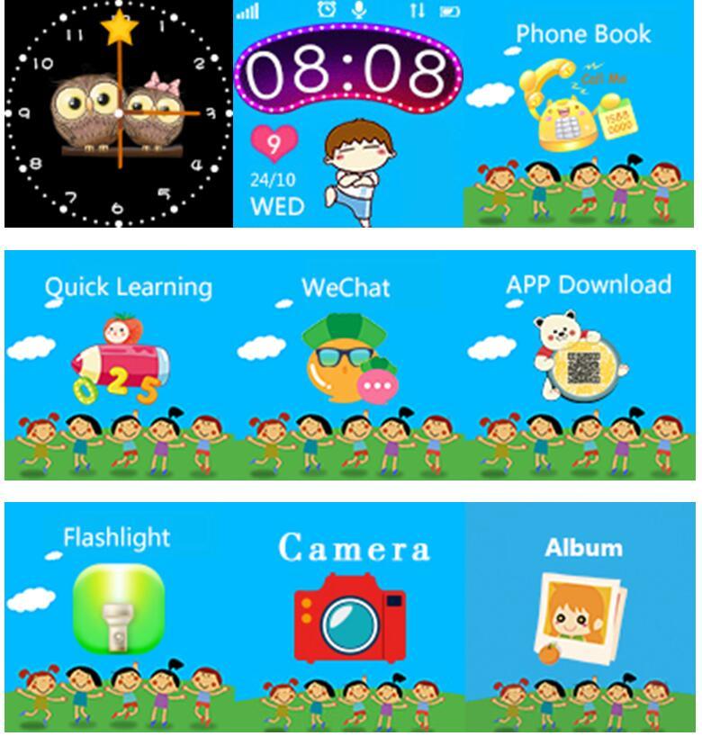 صفحه نمایش ساعت ردیاب G90
