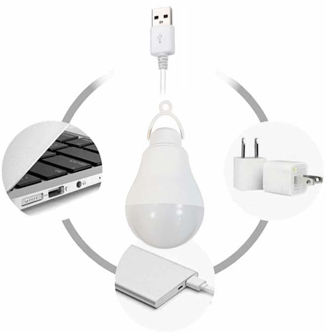 چراغ قوه آویز کمپ و کوهنوردی USB دار