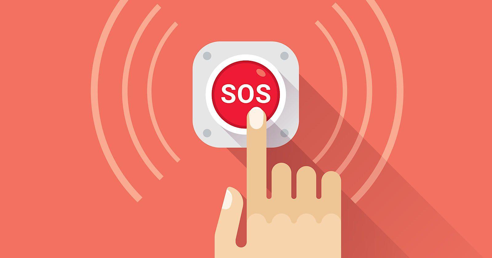 دکمه SOS