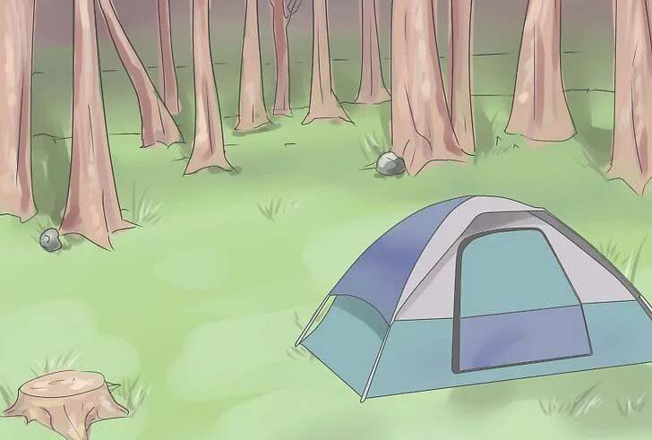محل برپایی چادر