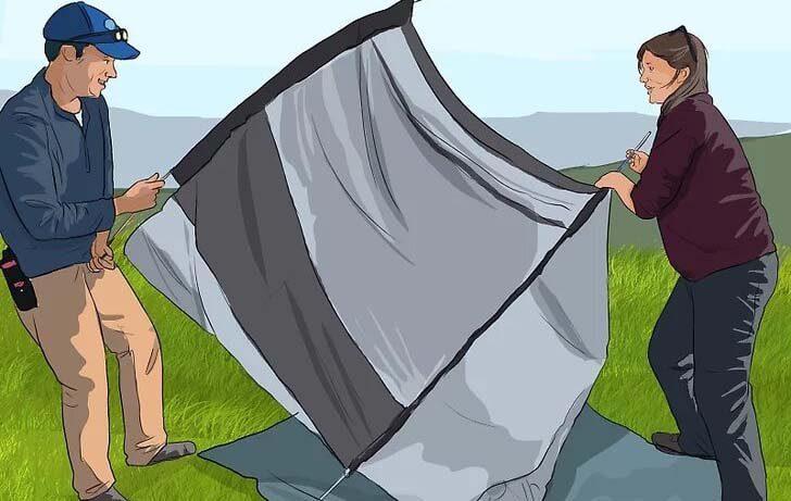 محل برپا کردن چادر