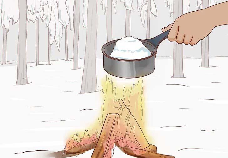 آب کردن برف