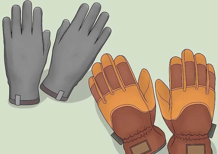 دستکش طبیعت گردی در زمستان