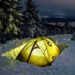 گرم نگه داشتن چادر در زمستان