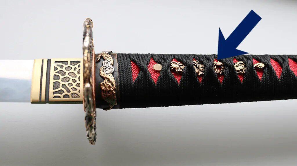 اجزای شمشیر سامورایی کاتانا