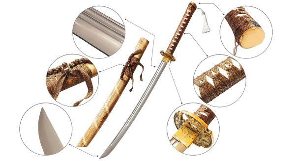شمشیر سامورایی واکیزاشی مدل Ron55
